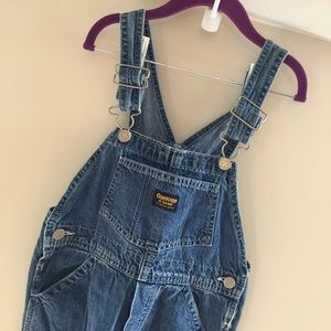 Vintage OshKosh Blue Jean Overalls Size 7